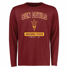 Arizona State Sun Devils Maroon Campus Icon Long Sleeve T-Shirt