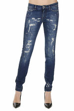 DOLCE&GABBANA New Woman Blue STRETCH Denim Jeans Made in ITALY