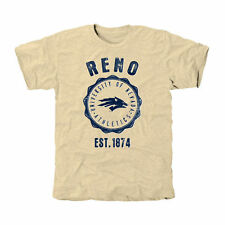 Nevada Wolf Pack Old-School Seal Tri-Blend T-Shirt - White - College