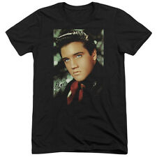 Elvis Presley Red Scarf Mens Tri-Blend Short Sleeve Shirt BLACK