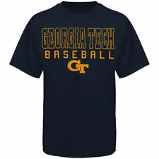 Georgia Tech Yellow Jackets Frame Baseball T-Shirt - Navy Blue