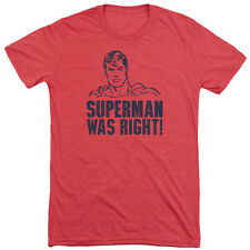 Superman Was Right Mens Tri-Blend Short Sleeve Shirt RED