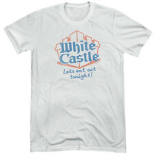 White Castle Lets Eat Mens Tri-Blend Short Sleeve Shirt WHITE