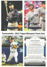 2011 Topps Marquee Baseball Set ** Pick Your Team **