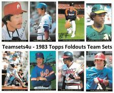 1983 Topps Foldouts Baseball Set ** Pick Your Team **