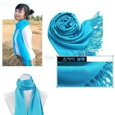 Winter Warm Wool Blends Solid Women Scarves Scarf Wrap Long Large Tassels Shawl