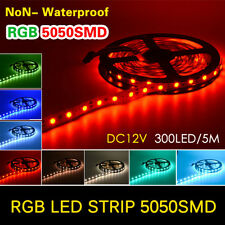 NEW 5050 300LED SMD Flexible LED Strip Light DC12V 60LEDs/M For Home Decoration