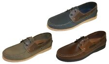 Seafarer Yachtsman Leather Boat Deck Shoes Sizes 7-12
