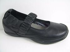 NiB Women's DANSKO 'Chrissy Nappa' BLACK MARY JANE FLAT SANDAL SHOE