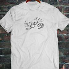 CYCLING HORSE BIKE ROAD MOUNTAIN BICYCLE RACE Mens White T-Shirt