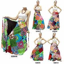 Skirt SDB6-10 Thailand Cotton Patchwork Festival Wrap Sarong Boho Gypsy Hippy