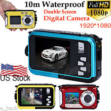 "2.7"" HD 1080P Double Screen Waterproof Camera 24MP 16x Digital Zoom Dive Camera"