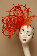 New Orange Fascinate Fascinator hat highlight/choose any colour satin/feathers