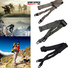 Tactical 2 Two Point Rifle Gun Sling Dual Bungee Strap Snap Hook Adjustable