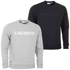 Lacoste 2016 Mens Chest Logo Crew Neck Sweatshirt Pullover Jumper Top