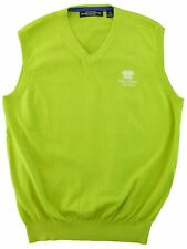 New Carnoustie Pullover Sweater Vest Key Lime Mens M L Royal Links Golf Logo