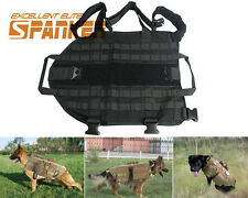 Tactical Military Army Police Molle Dog Vest Harness Canine Training Vest Black