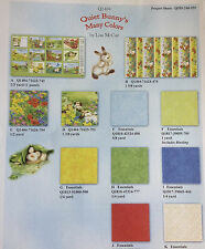 Quiet Bunny's Many Colors ~ Lisa McCue ~ Wilmington Prints ~ Quilt Panel & BTY
