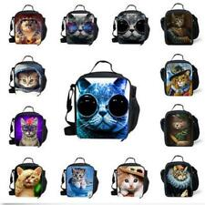 Portable Cat Thermal Cooler Insulated Tote lunch Box Picnic Bag Travel