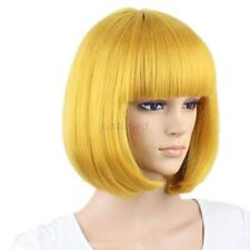 Trendy New Women Cosplay Party Full Wigs Hair Full Bangs Short Straight Wig
