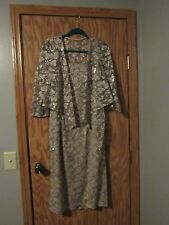 Lovely Mother of the Bride Gold Lace Dress/Jacket by Alex, Size 14, Worn Once
