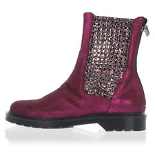SUSANA TRACA New women Glittered leather Ankle Boots Authentic MADE IN ITALY