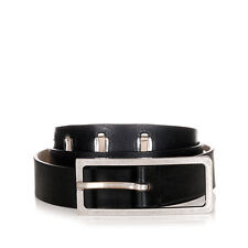 MARTIN MARGIELA MM11 Men Black Grained Leather Belt Made in Italy