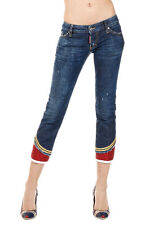 DSQUARED2 Dsquared² Women SEXY CROPPED BOOTCUT Stretch Denim Jeans Italy Made