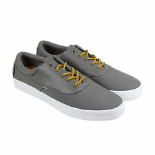 Radii Chord Mens Grey Leather Lace Up Sneakers Shoes