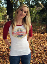 Original Cowgirl Clothing High Class Cowgirl Burg Baseball Raglan Shirt Sm-2XL