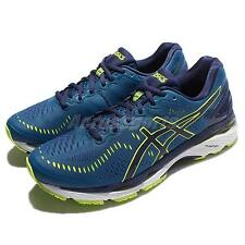 Asics Gel-Kayano 23 2E Wide Blue Green Men Running Shoes Sneakers T647N-4907
