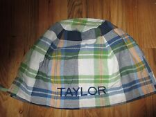 POTTERY BARN KIDS PLAID EASTER BASKET LINER Various Names
