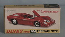 Original Dinky Toys Ferrari 312P Empty Box Only Number 204 Very Good Condition