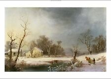 "GEORGE HENRY DURRIE ""A New England Winter"" CANVAS print various SIZES, BRAND NEW"