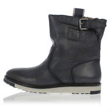 DIESEL Man Blue Leather D-DAAHGGER Ankle Boots New with tags and Original