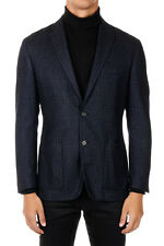 ID CORNELIANI New Men Blue Wool Blend Single Breasted Blazer Made in Italy NWT