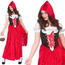 Deluxe Little Red Riding Hood Ladies Storybook Fancy Dress Outfit Size 6/24