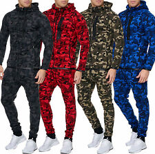 Men's Camouflage Army Jogging Suit Jogging Pants Jacket Trackies Military