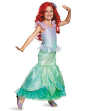 Girls Disney Ultra Prestige Ariel The Little Mermaid Ball Gown Dress Costume