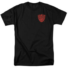 Judge Dredd Badge Mens Short Sleeve Shirt Black