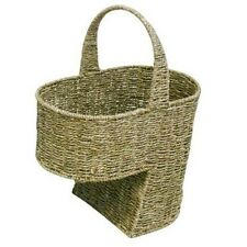 Seagrass Stair Basket / Step Storage Basket with Handle , Large