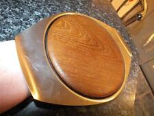 Eric Clements MODERNIST Stainless Steel Bramah Retro Cheese Dish Teak Board