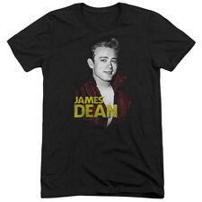 James Dean Red Jacket Mens Tri-Blend Short Sleeve Shirt BLACK