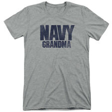 Navy Grandma Mens Tri-Blend Short Sleeve Shirt ATHLETIC HEATHER