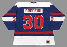 RICHARD BRODEUR Quebec Nordiques 1974 WHA Throwback Hockey Jersey