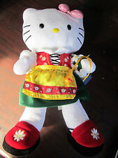 HELLO KITTY Euro Flower Girl PLUSH NEW W/ Tags BAB Build A Bear Workshop