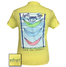 Girlie Girl Originals T-Shirt - Summer Days Hammock - Color Cornsilk Yellow