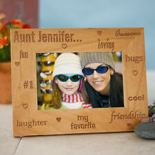 Personalized Favorite Aunt Picture Frame Engraved Wood Aunt Photo Frame Gift