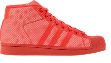 New Mens adidas Pro Model Weave Red High Top White Shoes Aq2725 Mens