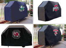 """Choose Your NCAA M-Z Team 60 or 72"""" Heavy Duty Black Vinyl Barbecue Grill Cover"""